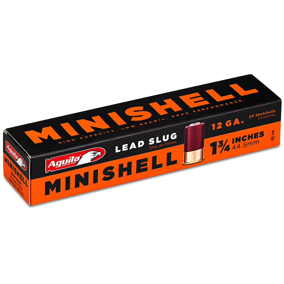 Aguila Minishell Shotshells, 12-ga, 1-3/4″, 5/8-oz, Slug