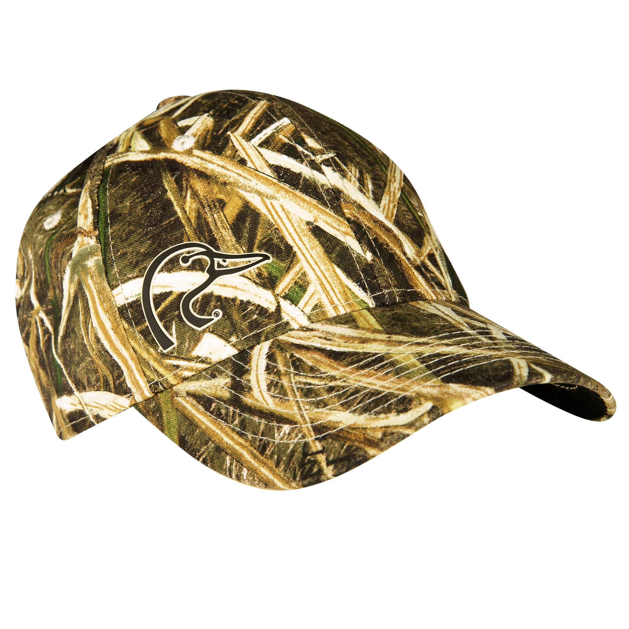 Ducks Unlimited Men's Duck Head Logo Camo Cap