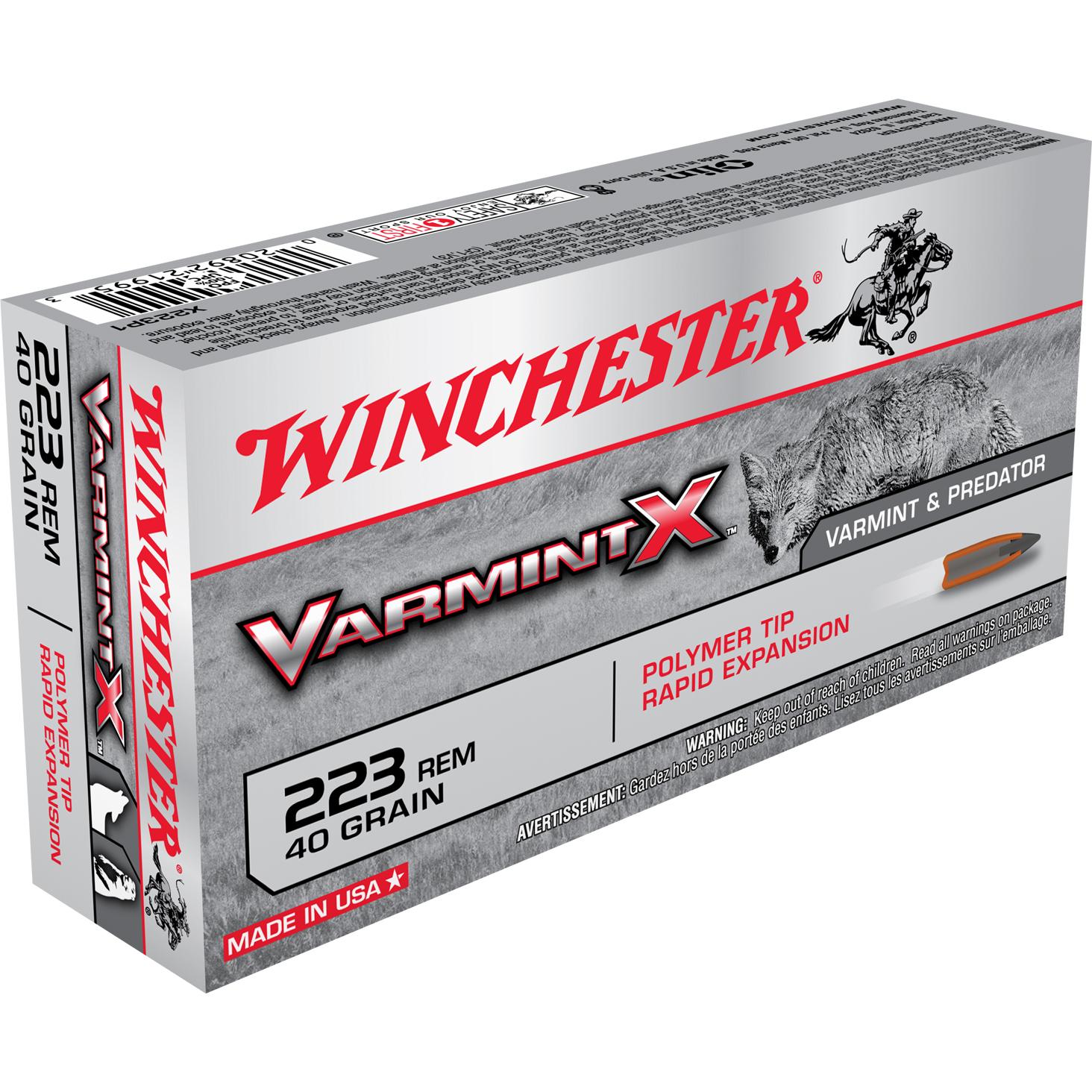 Winchester Varmint X Ammo, .223 Rem, 40-gr., Polymer Tip