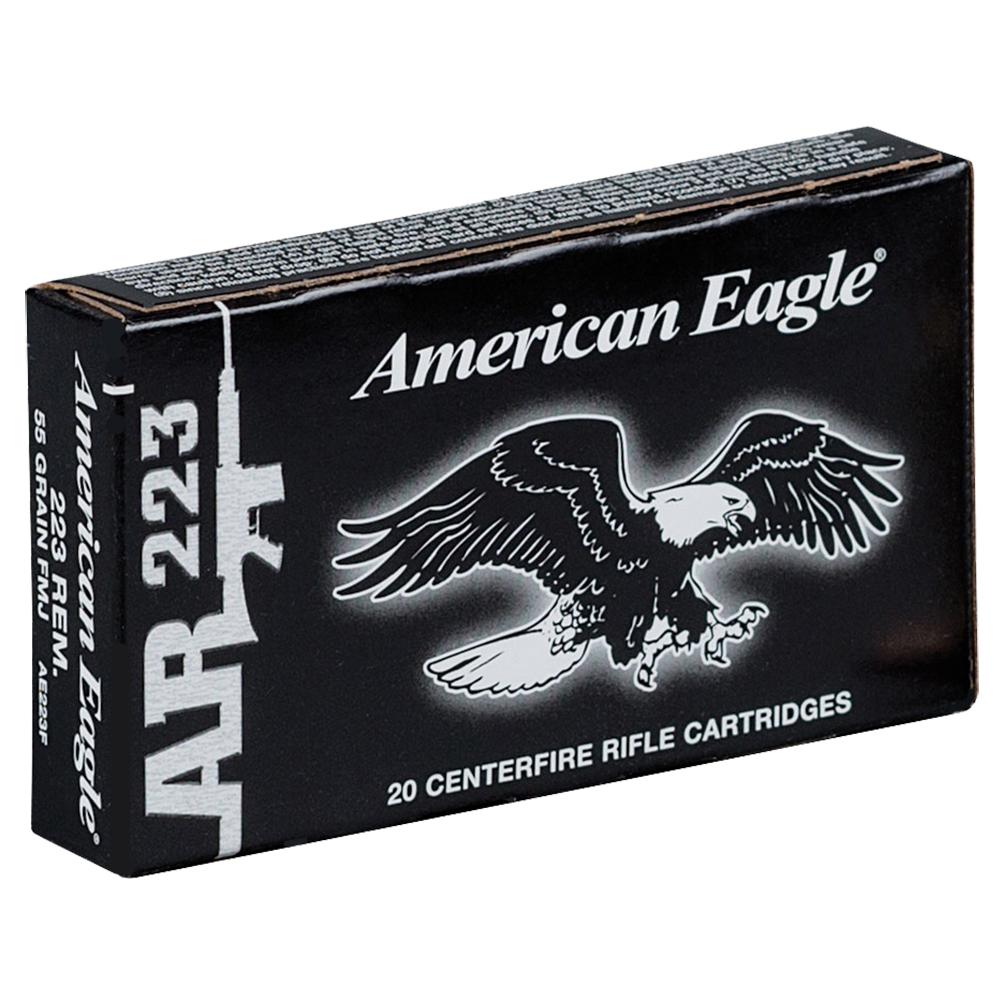 American Eagle AR-223 Rifle Ammunition, 55-gr, FMJBT