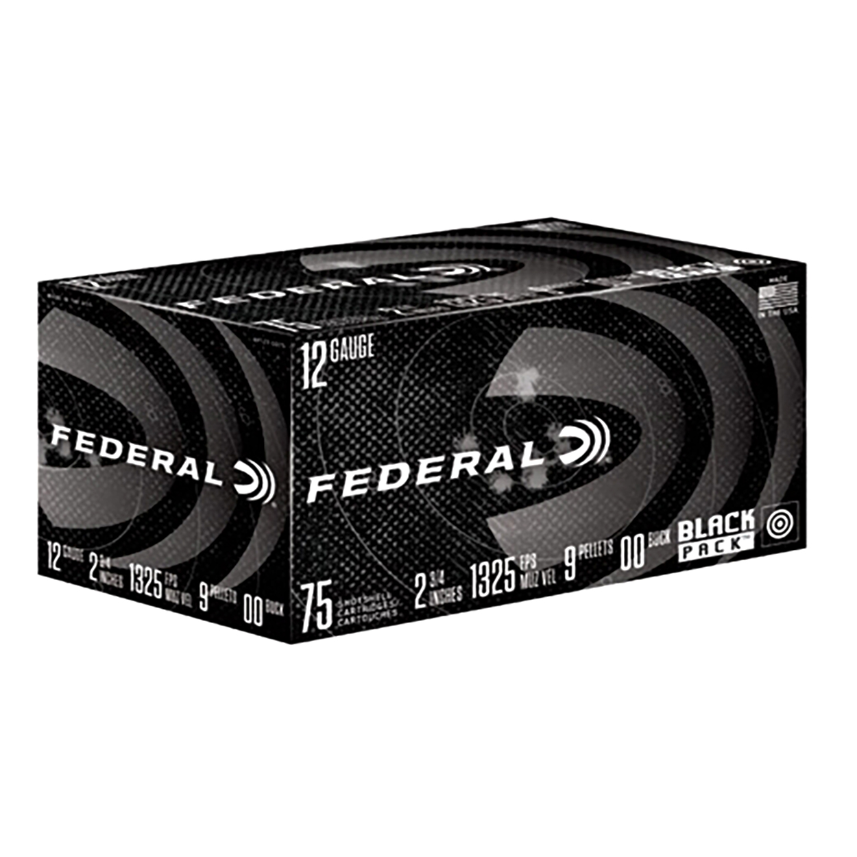 Federal Black Pack #00 Buckshot, 12 Ga.