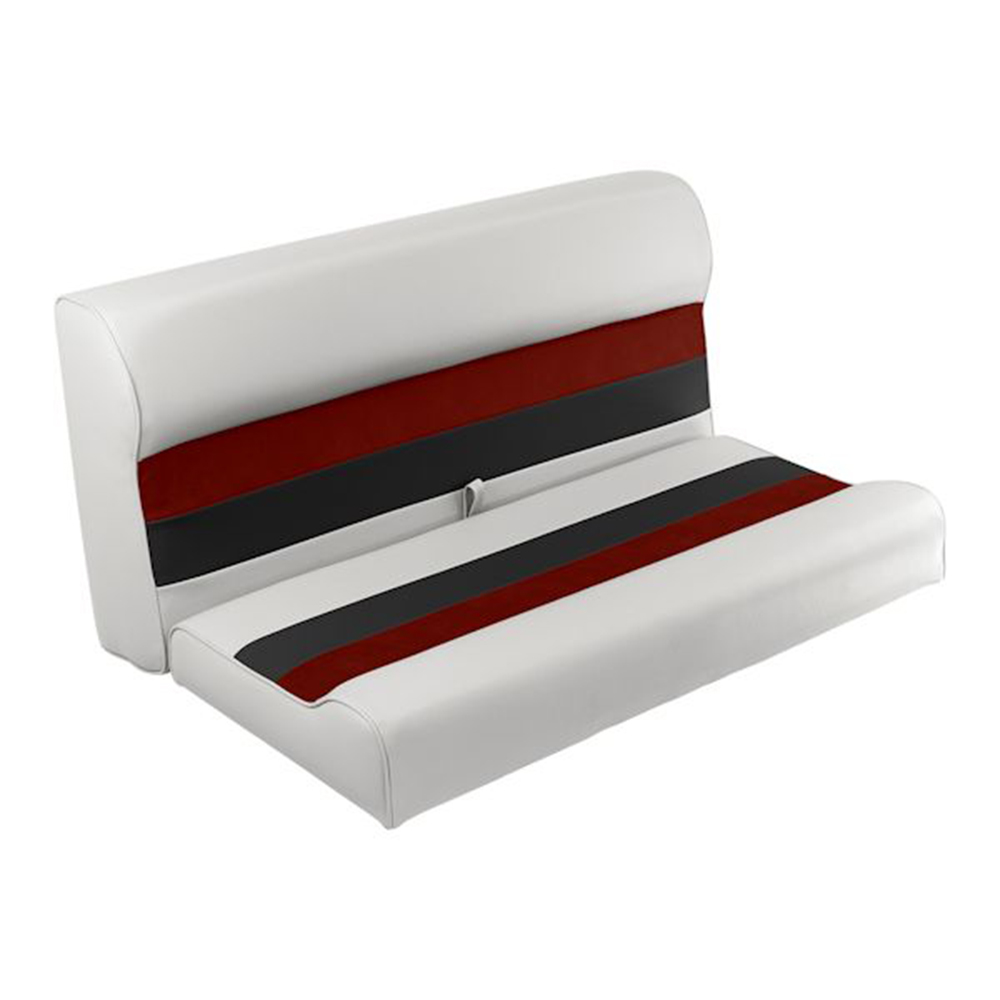 """Toonmate Deluxe 36"""" Lounge Seat - TOP ONLY - White/Red/Charcoal"""