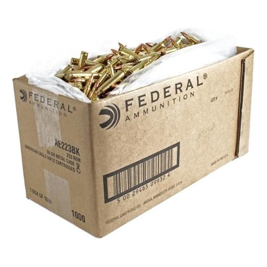American Eagle Rifle Ammunition, .223 Rem, 55-gr, FMJ, 1000Rds