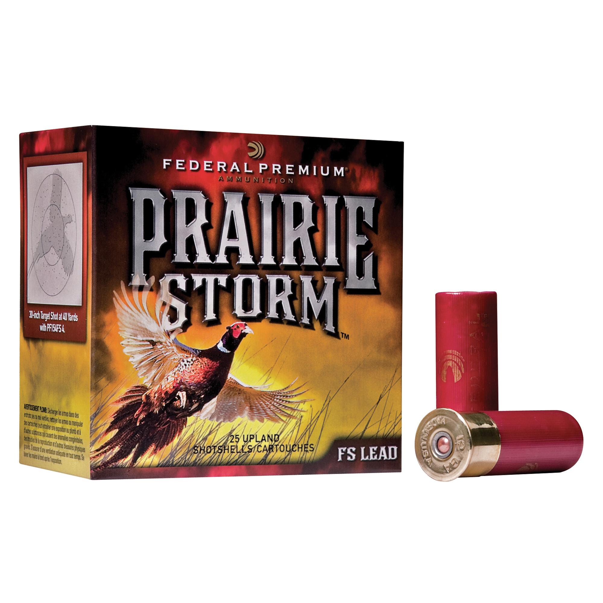 Federal Premium Prairie Storm Ammo, 12-ga, 2-3/4″, 1-1/4 oz.