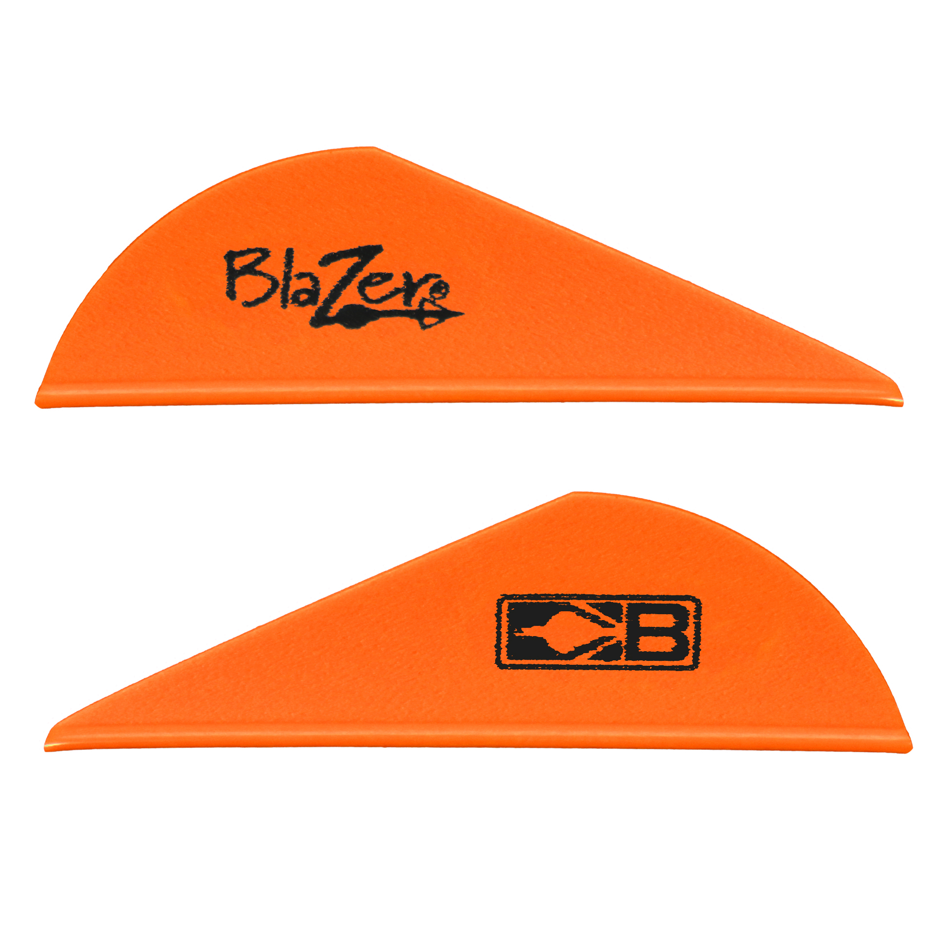 Bohning 2″ Blazer Vanes, Neon Orange, 36-Pack