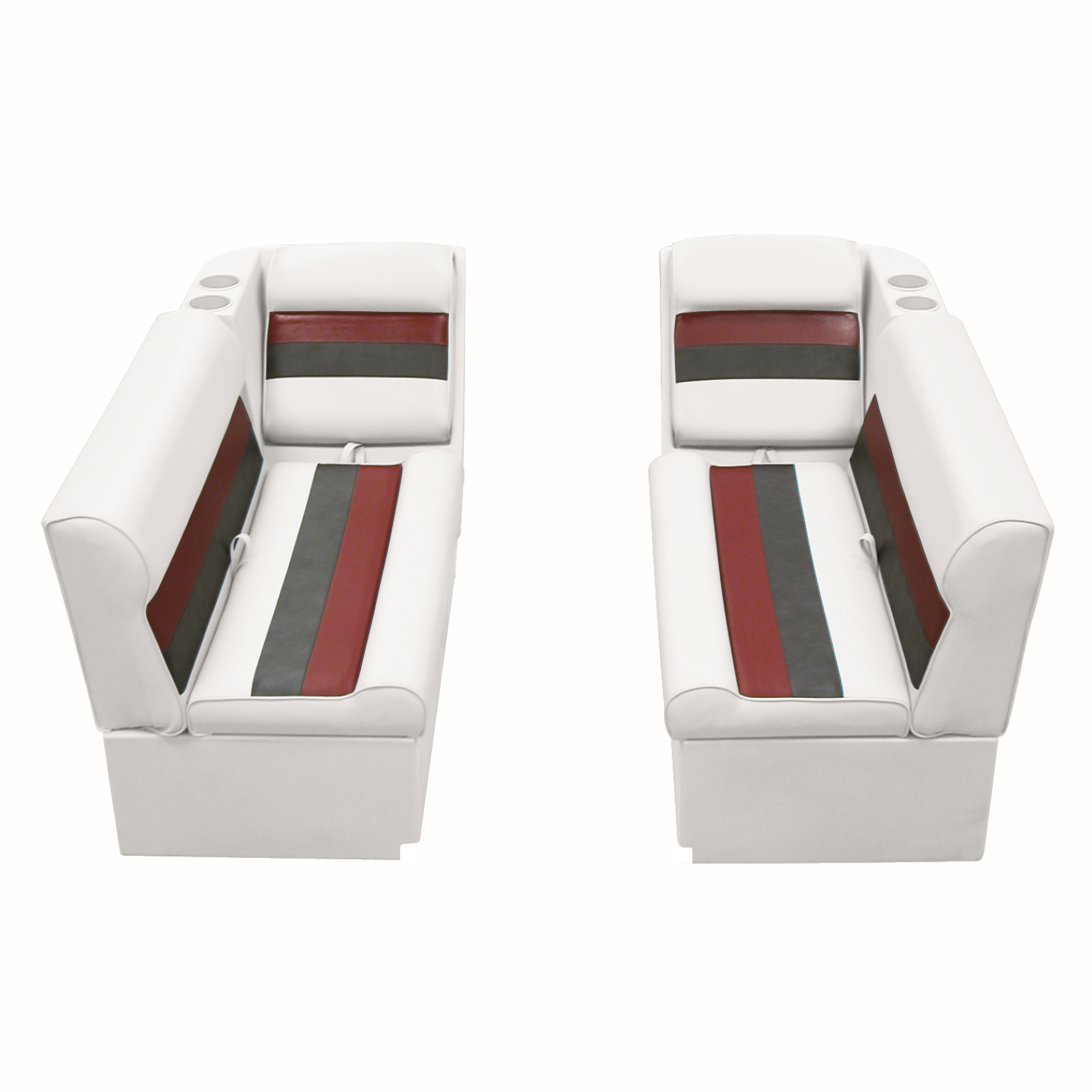 Toonmate Deluxe Pontoon Furniture with Toe Kick Base - Front Lounge Package
