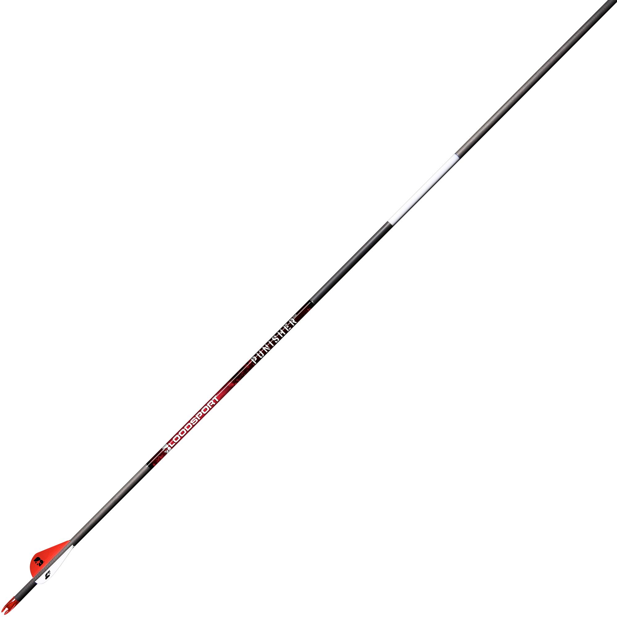 BloodSport Punisher Carbon Arrows, 6-Pack, 350