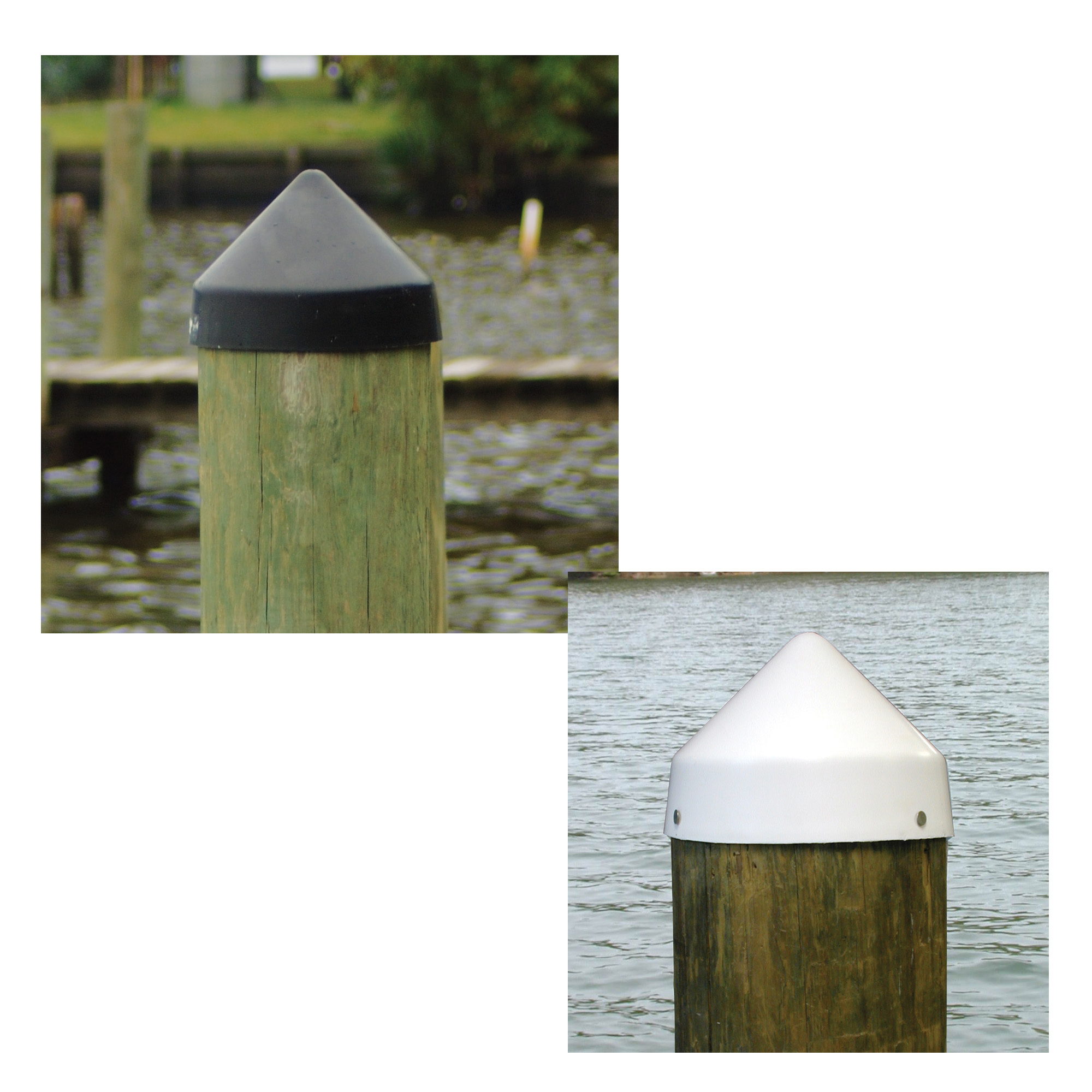 Dockmate Conehead Piling Caps For Round Pilings