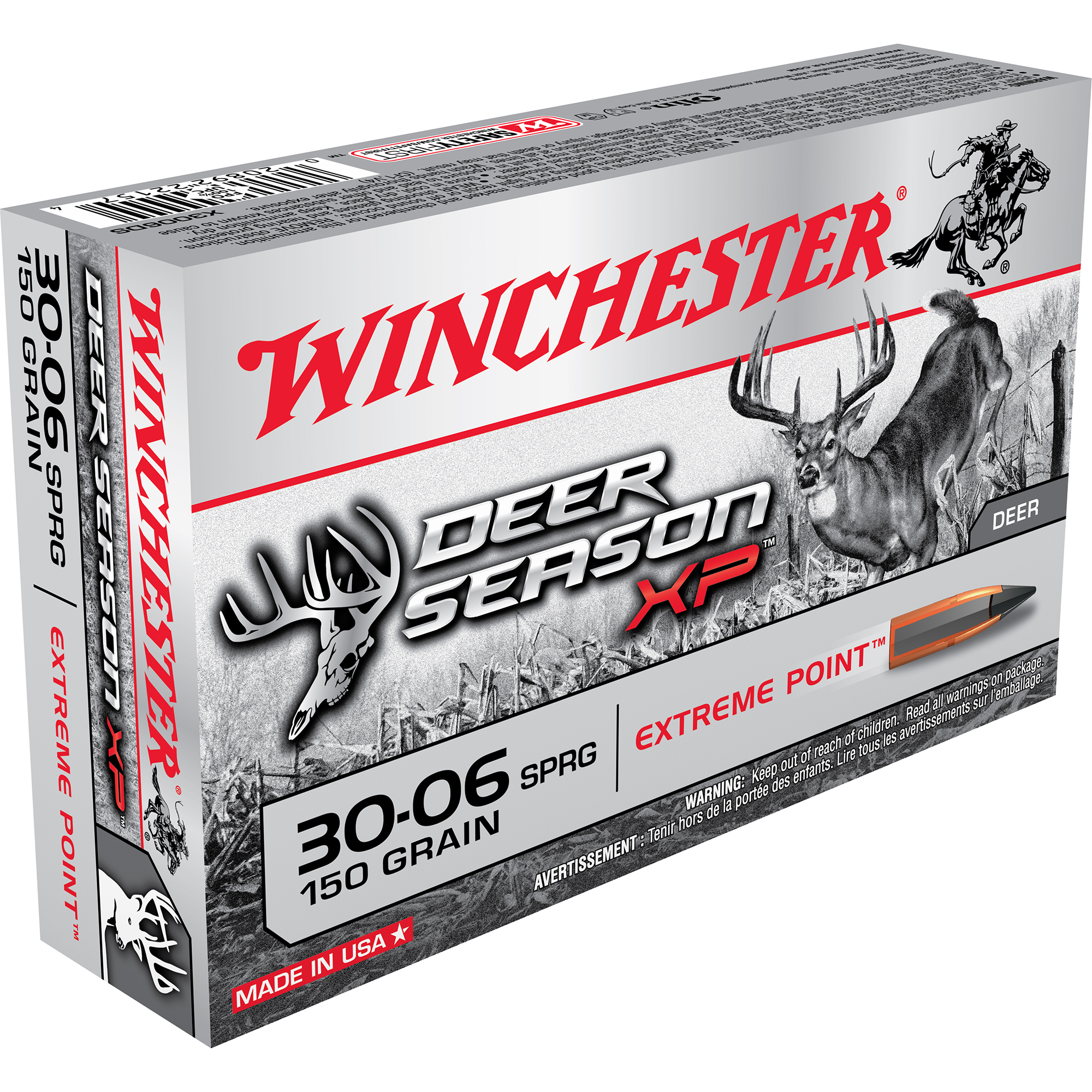 Winchester Deer Season XP Rifle Ammo, .30-06 Spring, 150-gr, Extreme Point
