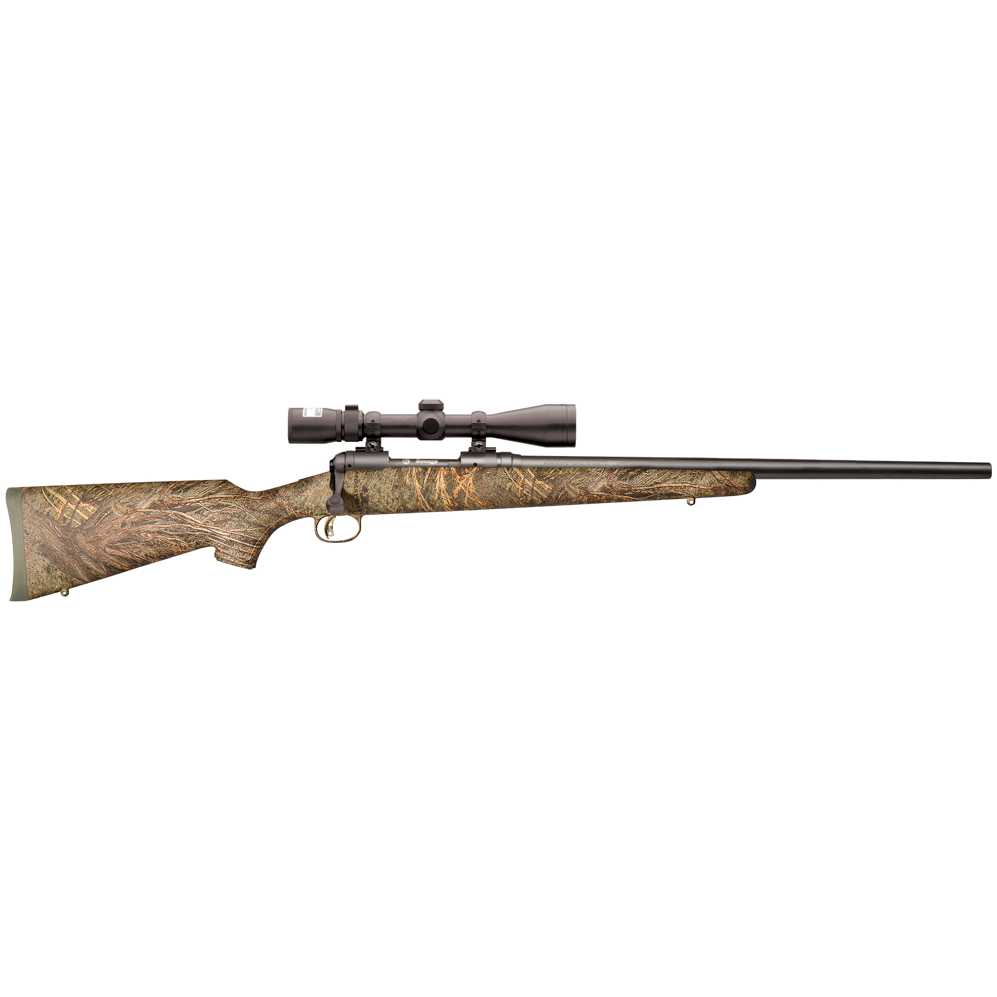Savage Model 11 Trophy Hunter XP Mossy Oak Brush Centerfire Rifle Package, .22-250 Rem.