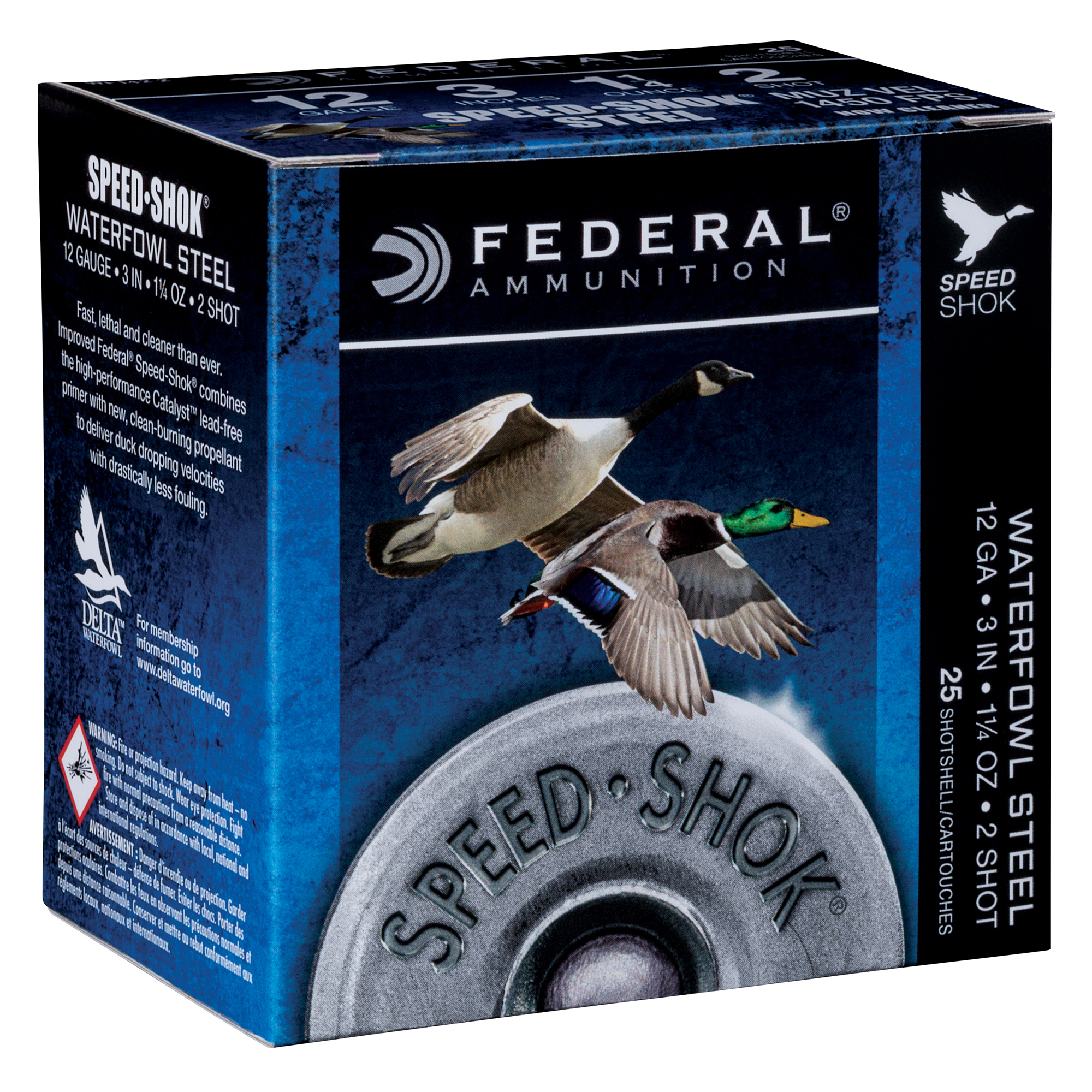 Federal Premium Speed-Shok Steel Waterfowl Loads, 12-ga, 3″, 1-1/4 oz, BB