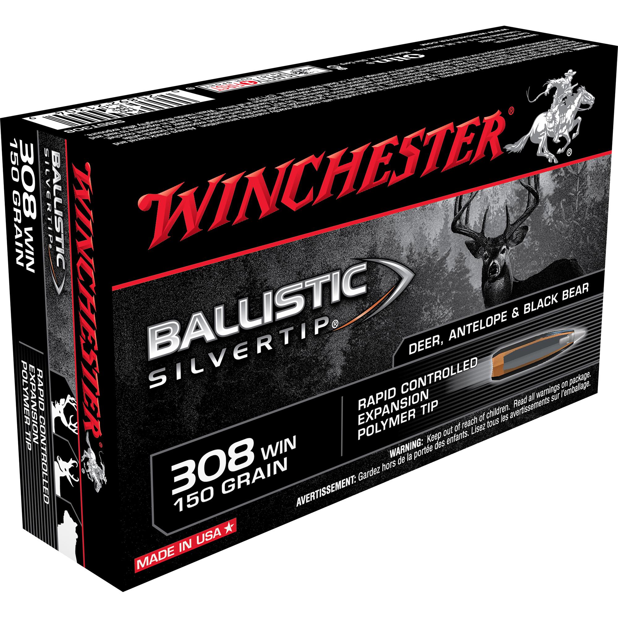 Winchester Ballistic Silver Tip Supreme Centerfire Ammo, .308 Win, 150-gr.