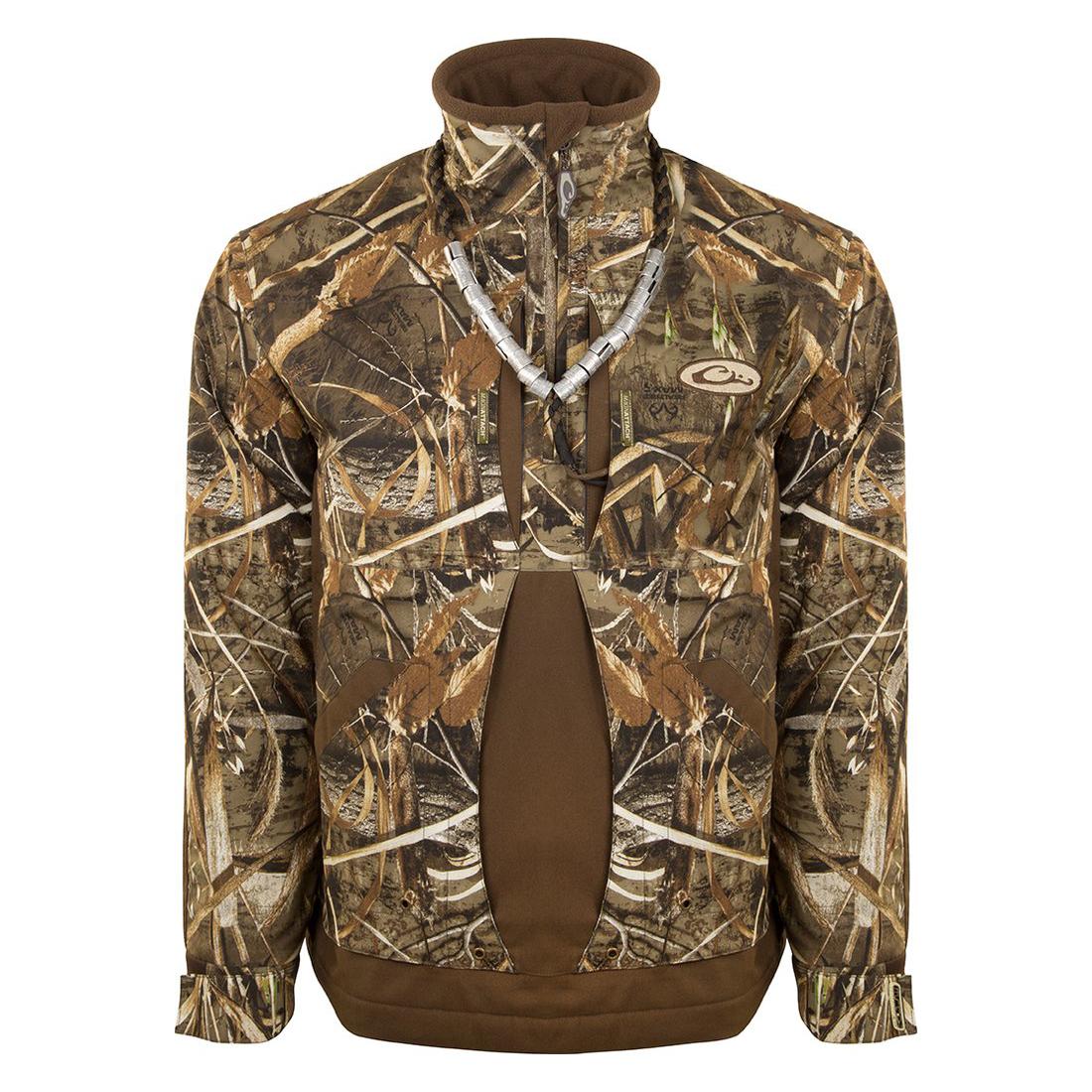 743737e21 Drake Waterfowl Men s Guardian Flex Fleece-Lined Quarter-Zip Jacket