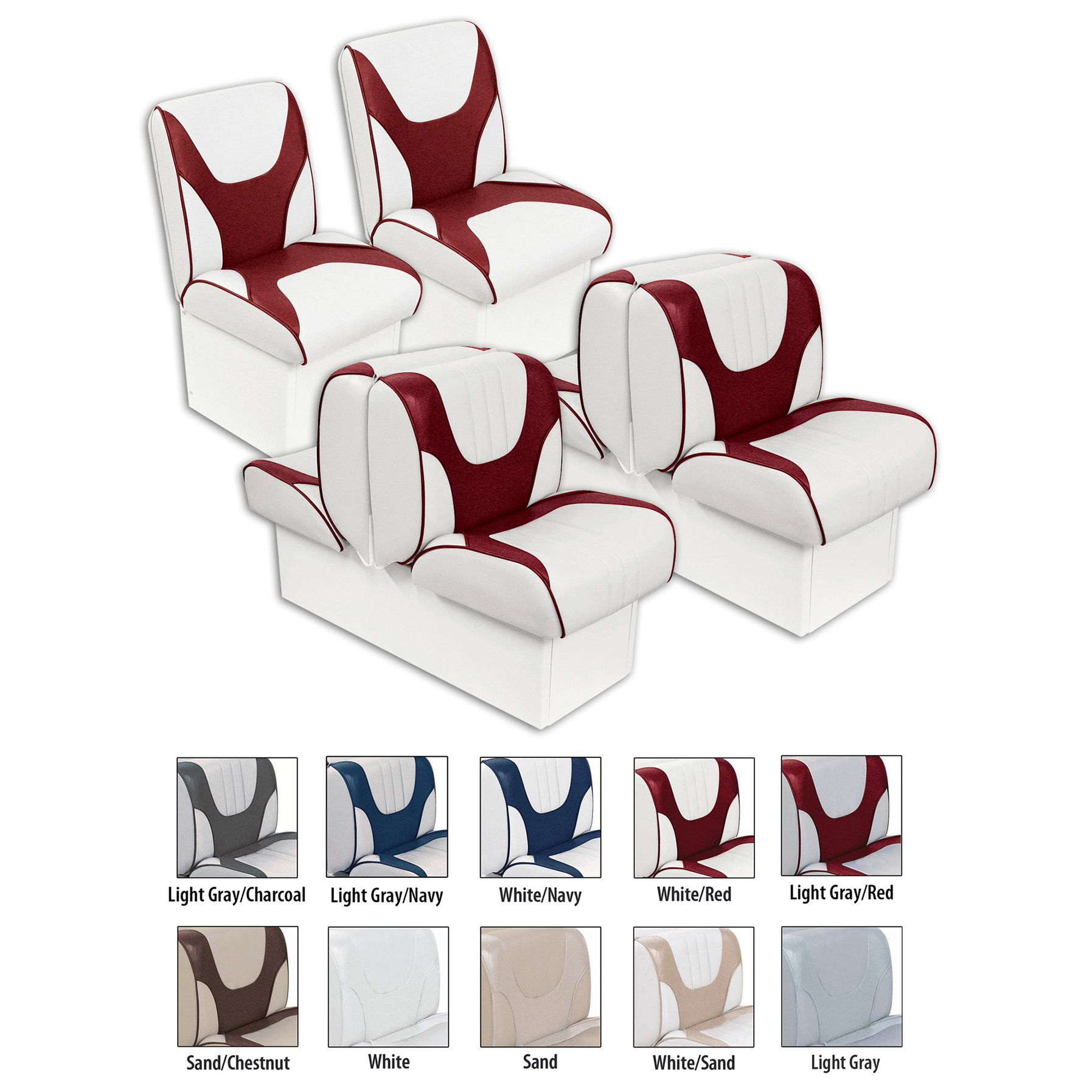 Overton's Deluxe Boat Seat Package with 10
