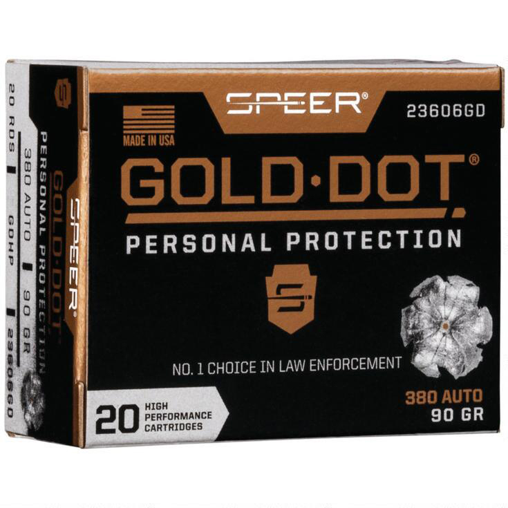 Speer Gold Dot Personal Protection Ammo, .380 ACP