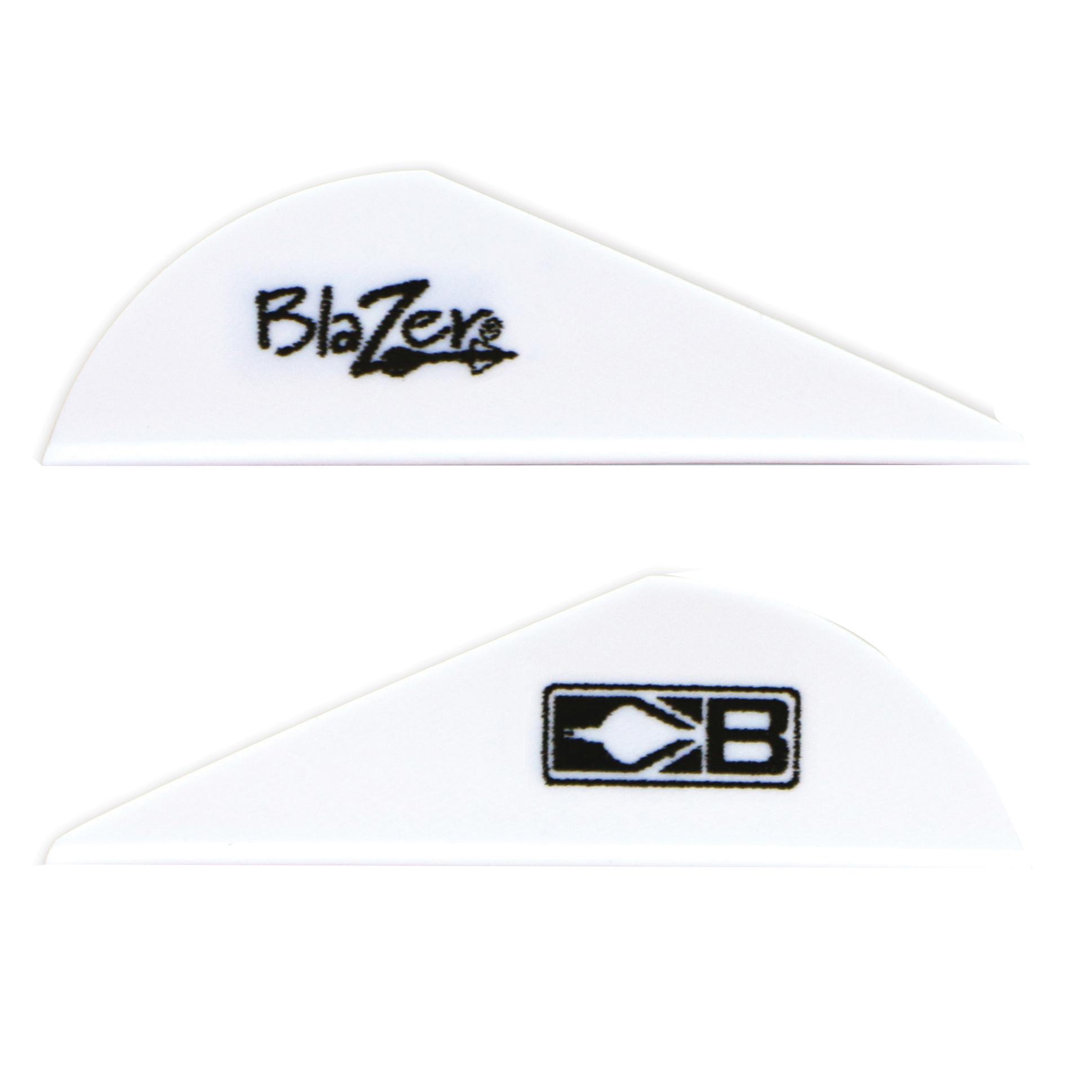 Bohning 2″ Blazer Vanes, White, 36-Pack
