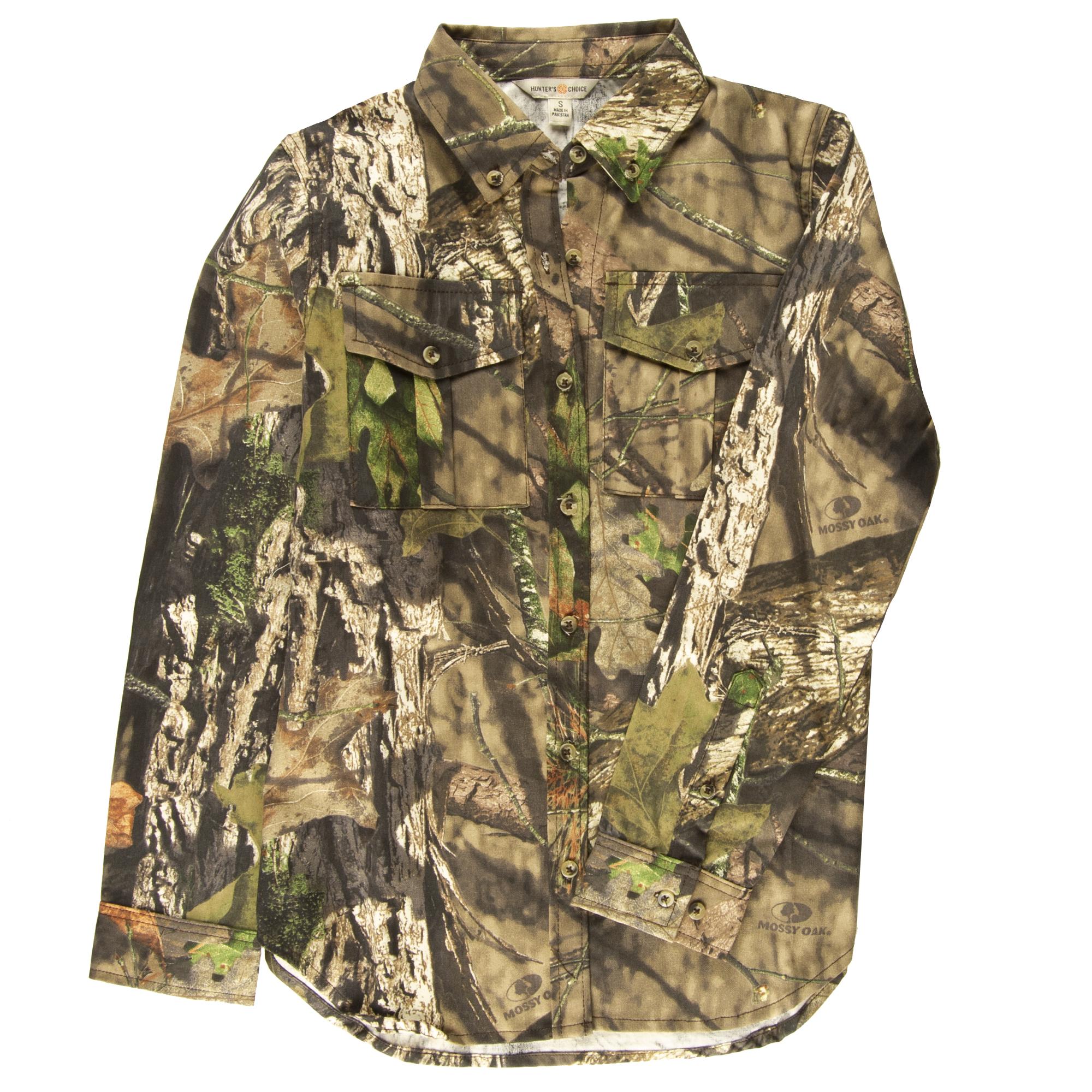 Hunter's Choice Women's Camo Button-Up Shirt, Mossy Oak Break-Up Country