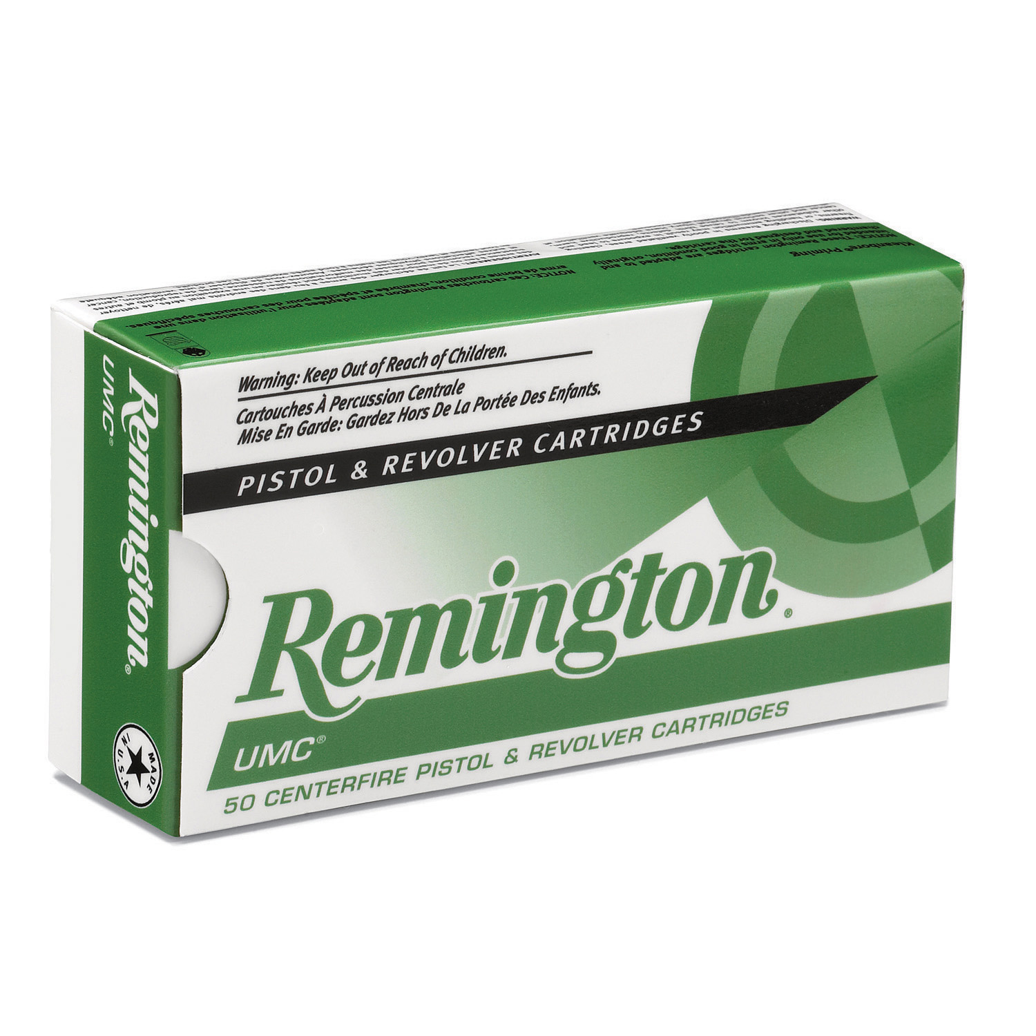 Remington UMC Handgun Ammunition, 9mm Luger, 115-gr, FMJ, 50 Rounds
