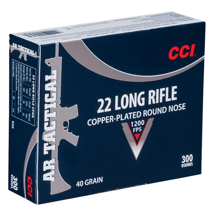 CCI AR Tactical Ammo, .22 LR, 40-gr, CPRN