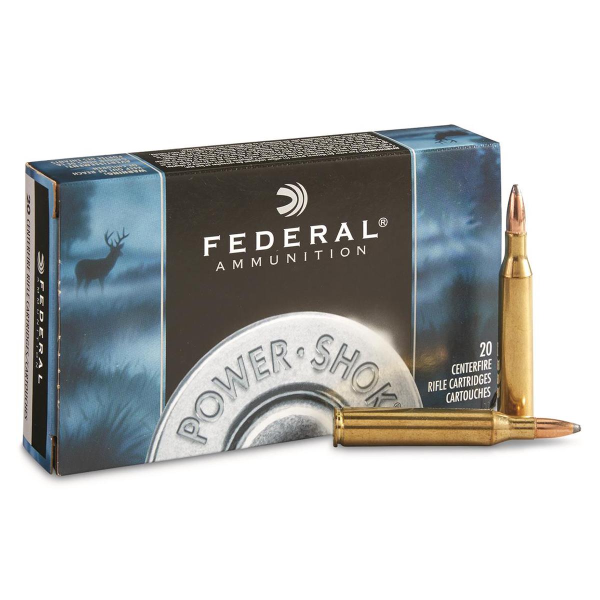 Federal Power-Shok Rifle Ammo, 7MM Mauser, 140-gr, HCSP