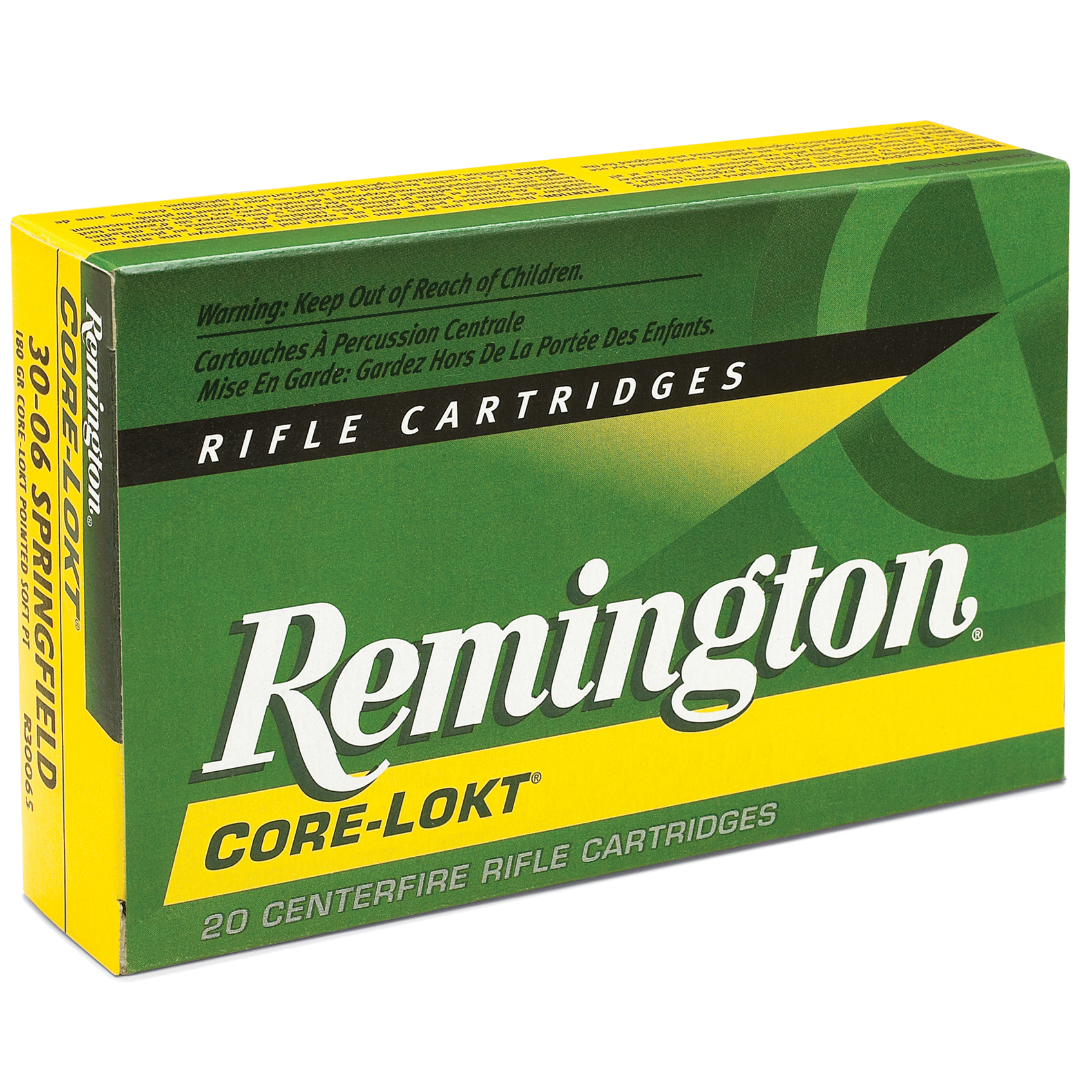 Remington Core-Lokt Rifle Ammunition, .308 Win, 180-gr, PSP