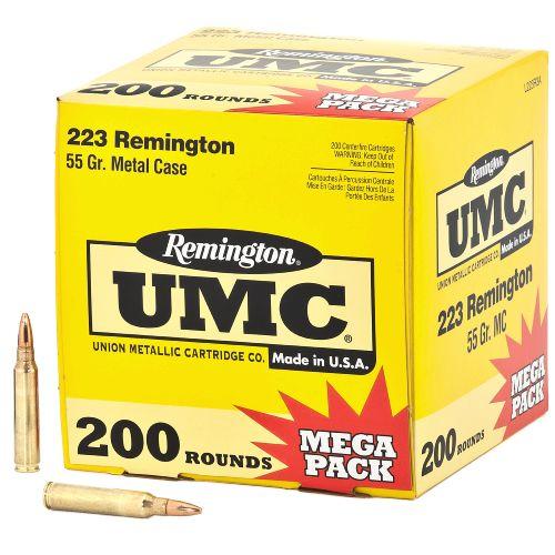 Remington UMC Ammo 200-Round Mega Pack, .223 Rem, 55-gr, FMJ