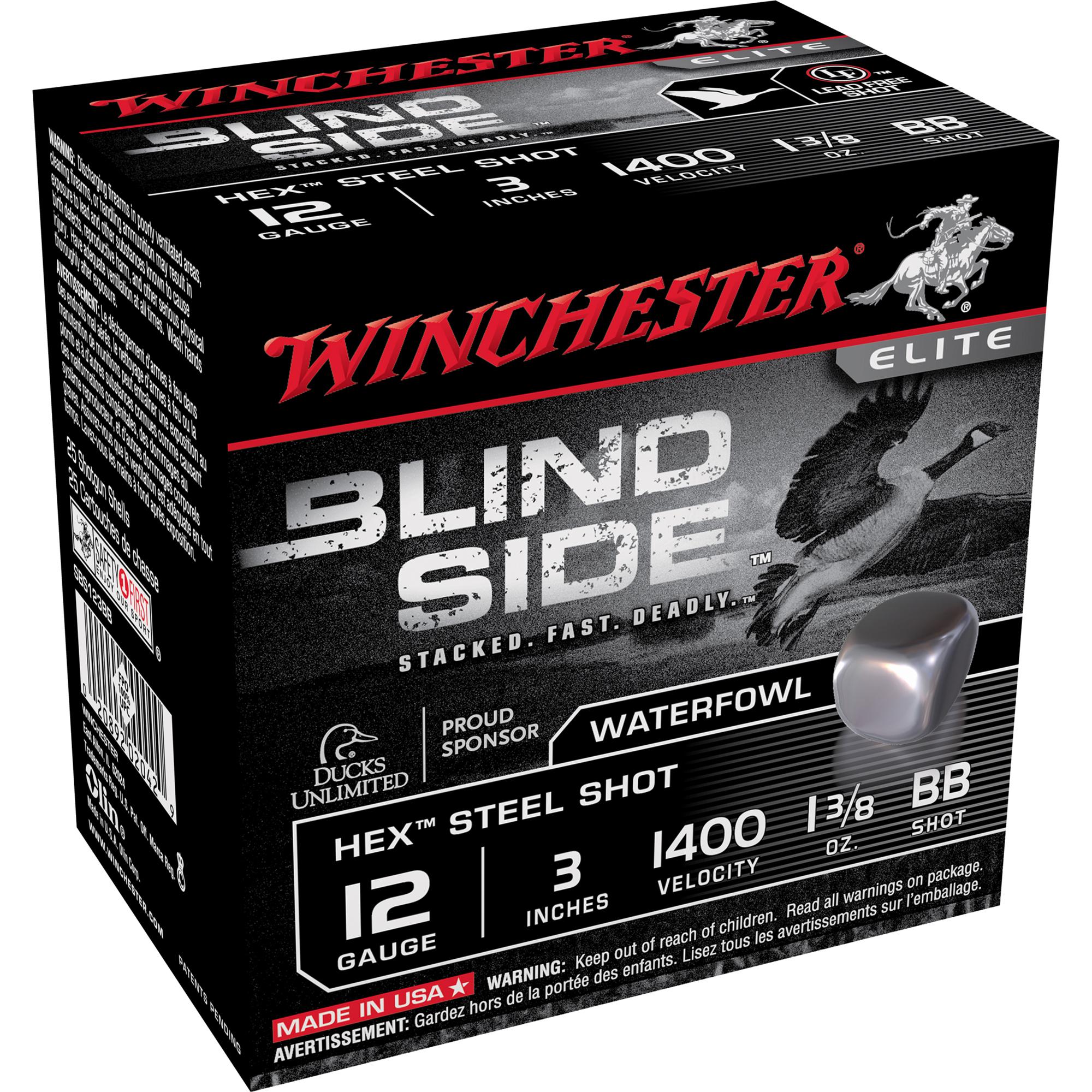 Winchester Blind Side Magnum Ammo, 12-ga, 3″, 1-3/8, #2
