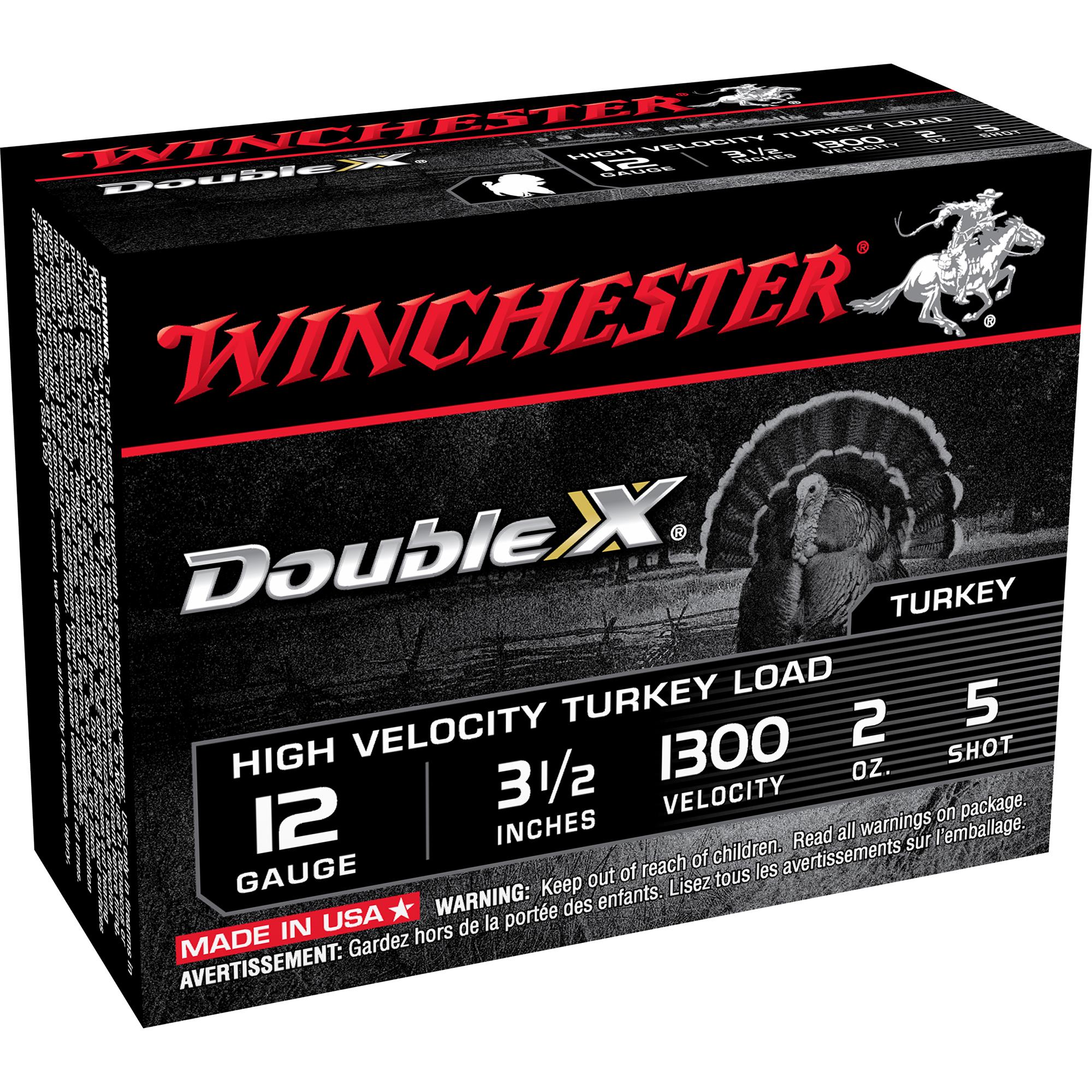 "Winchester Double X Turkey Loads, 12-ga, 3-1/"", 2-oz, #5"