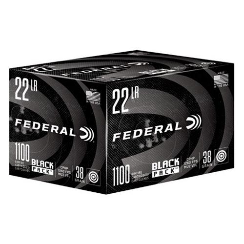 Federal Black Pack Ammo, .22LR