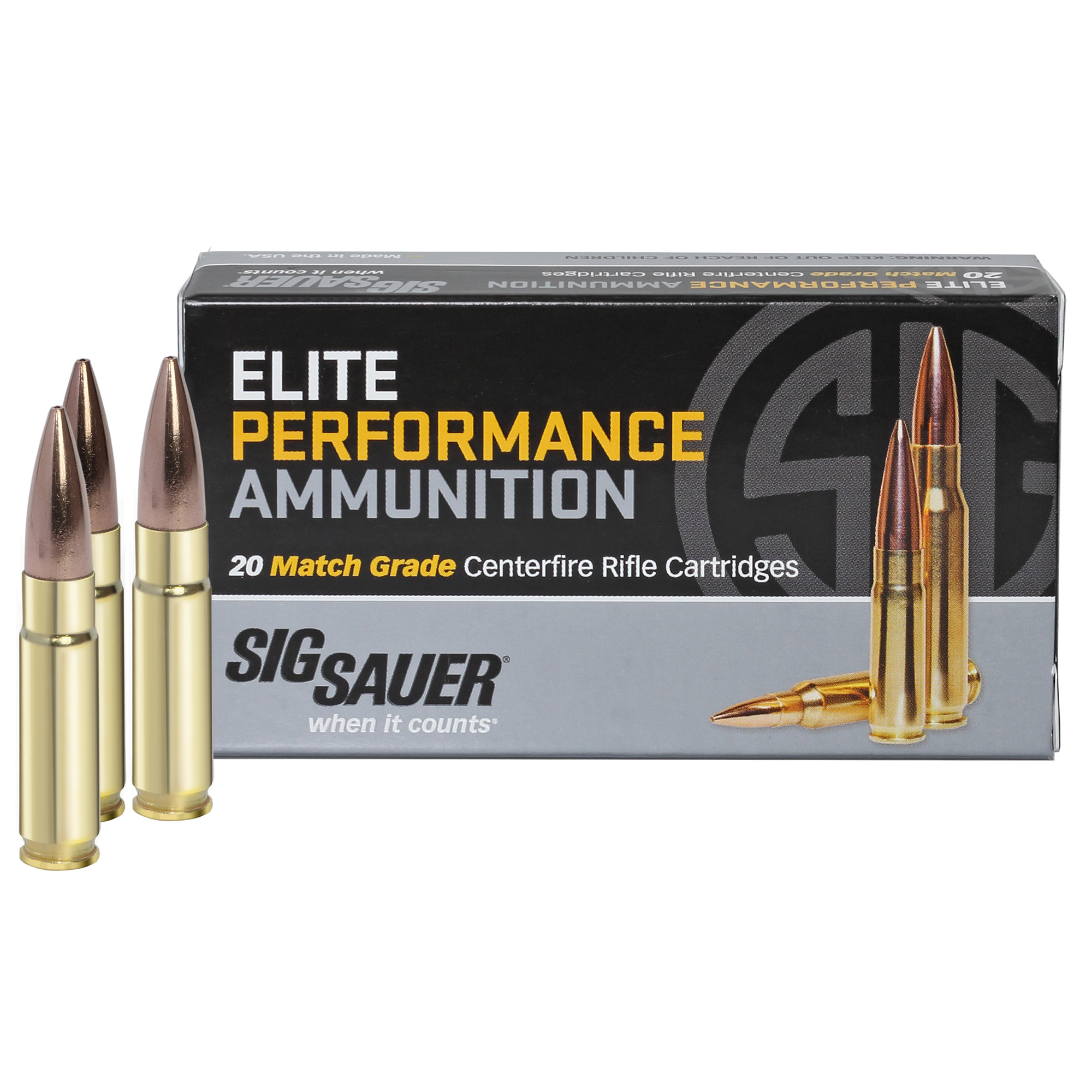 SIG Sauer Elite Performance Match Ammo, .300 AAC Blackout, 220-gr, Subsonic