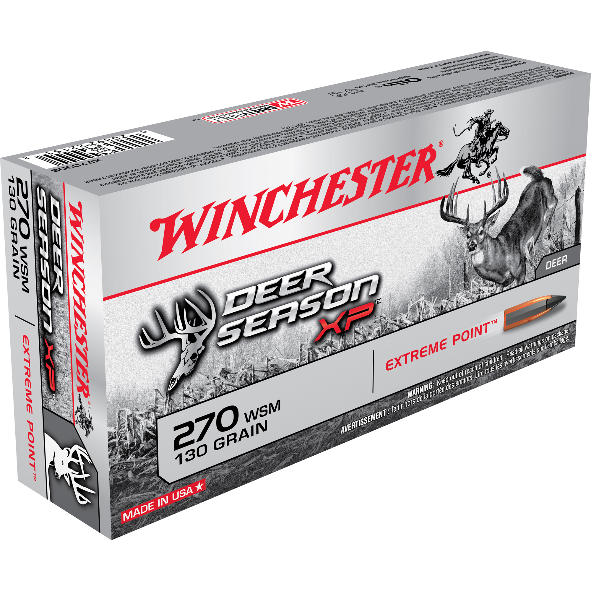 Winchester Deer Season XP Rifle Ammo, .270 WSM, 130-gr, Extreme Point