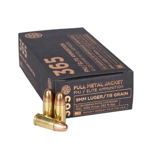 Sig Sauer SIG 365 Elite Ball FMJ 9mm Ammunition