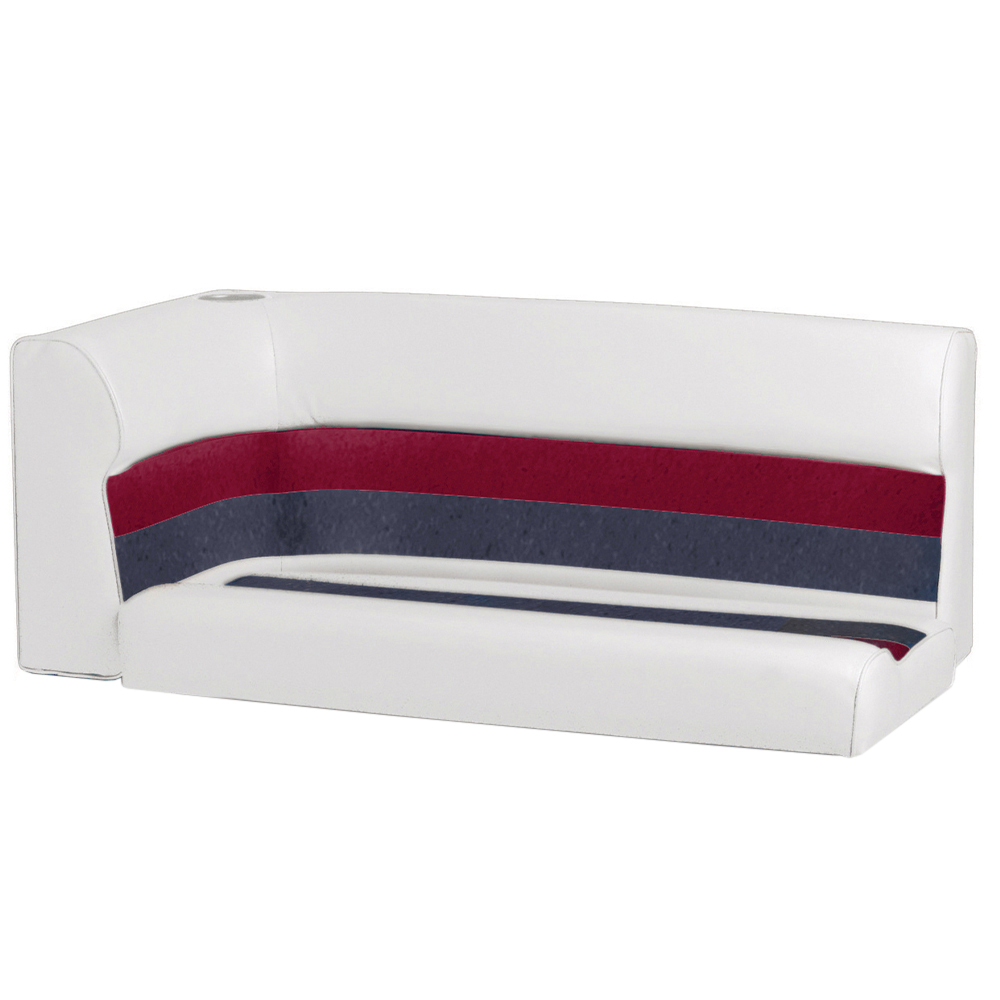 Toonmate Deluxe Pontoon Right-Side Corner Couch - TOP ONLY - White/Red/Charcoal