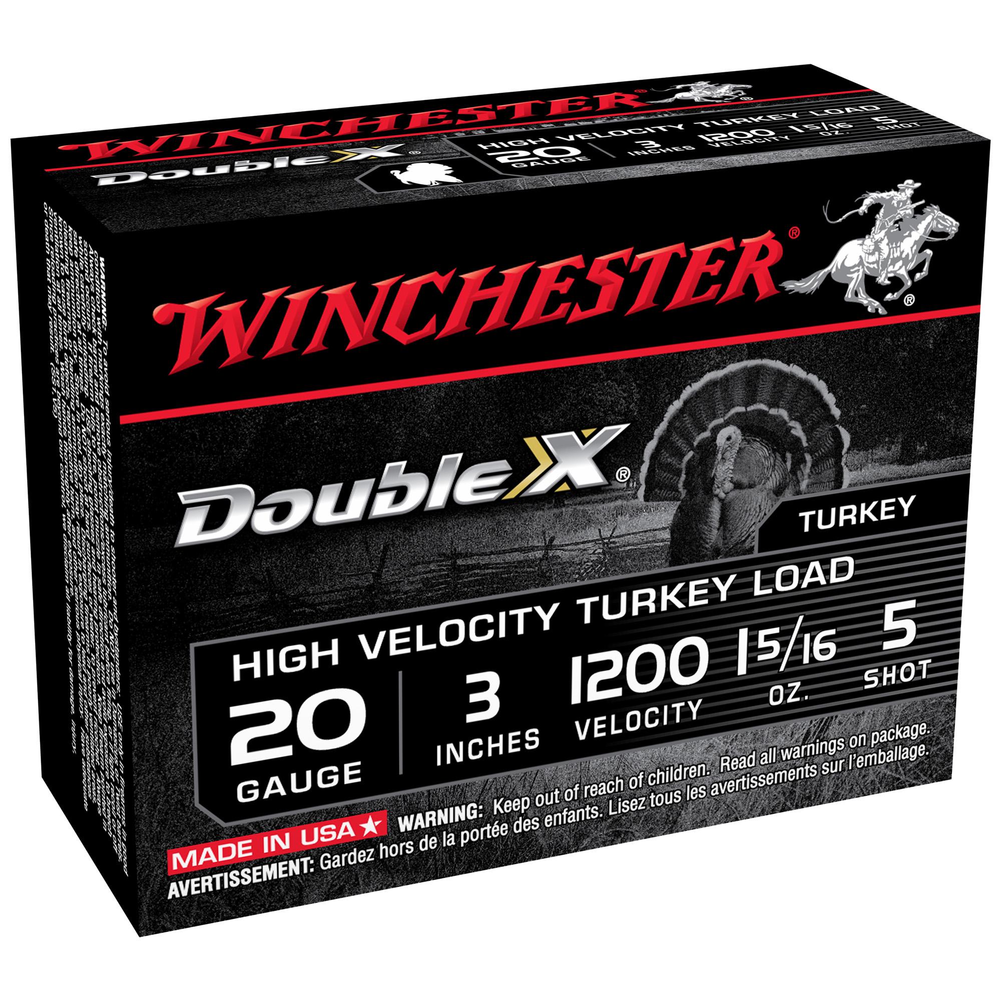 Winchester Double X Turkey Ammo, 20 Gauge, 3″, 1-5/16 oz, #5