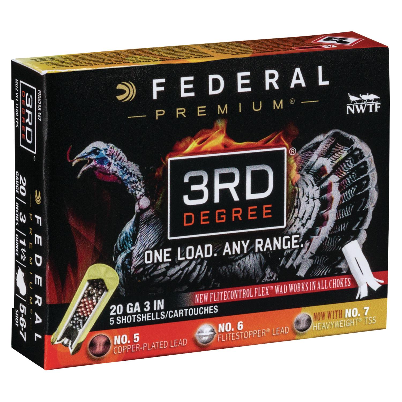 Federal Premium 3rd Degree Shotshells, 20-ga, 3″, 1-7/16 oz, 1100 fps