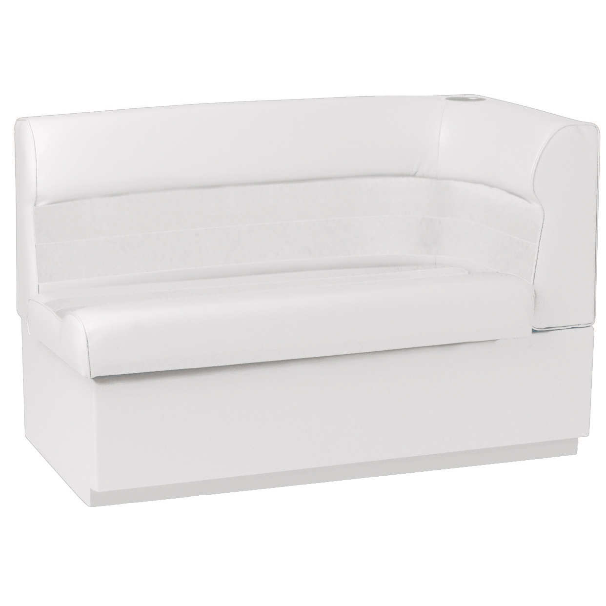 Toonmate Deluxe Pontoon Corner Couch with Toe Kick Base, Left Side, White