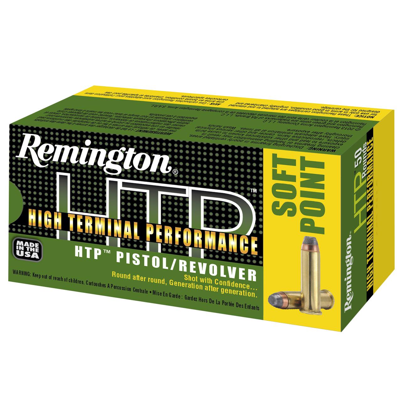 Remington HTP Handgun Ammo, .44 Rem Mag, 240 Gr, SP