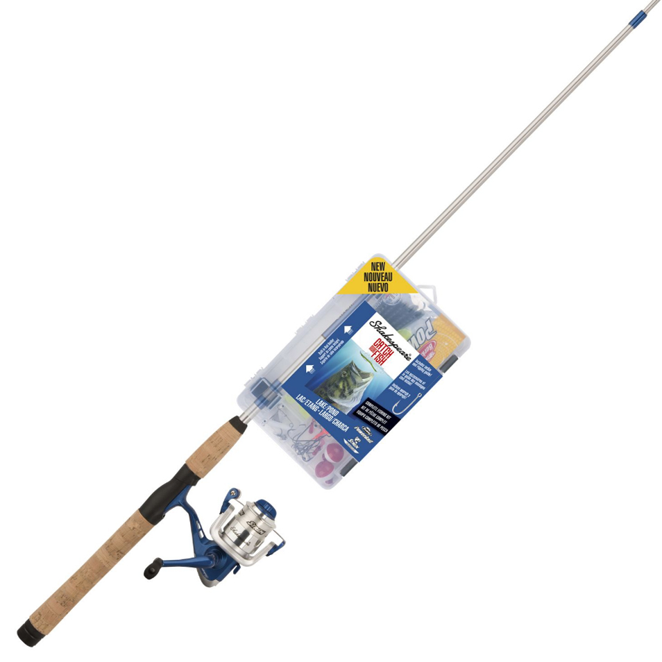 Shakespeare Catch More Fish Lake/Pond Spinning Rod And Reel Combo