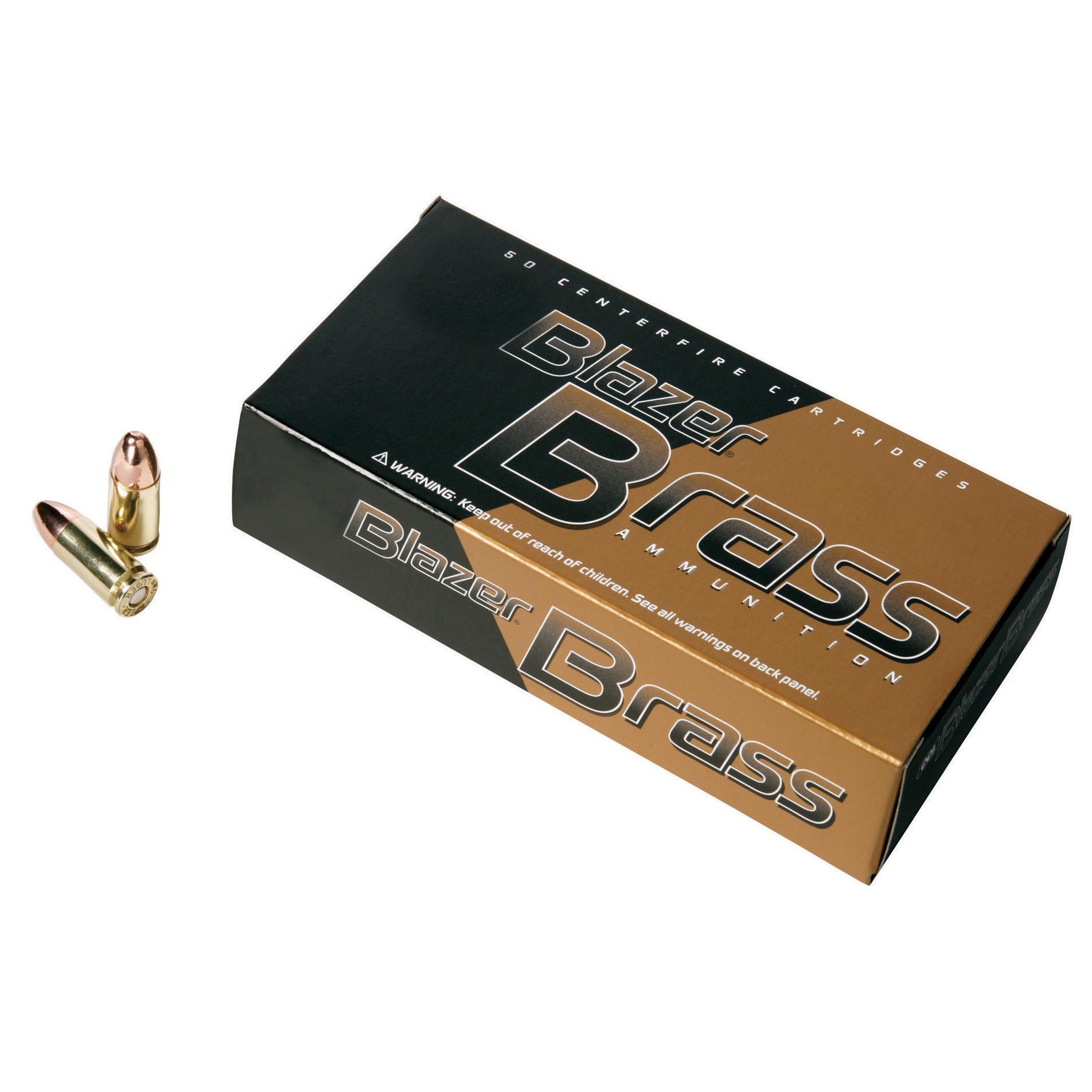 Blazer Brass Ammunition, 50-Rounds, 9MM Luger, 115-gr, FMJ