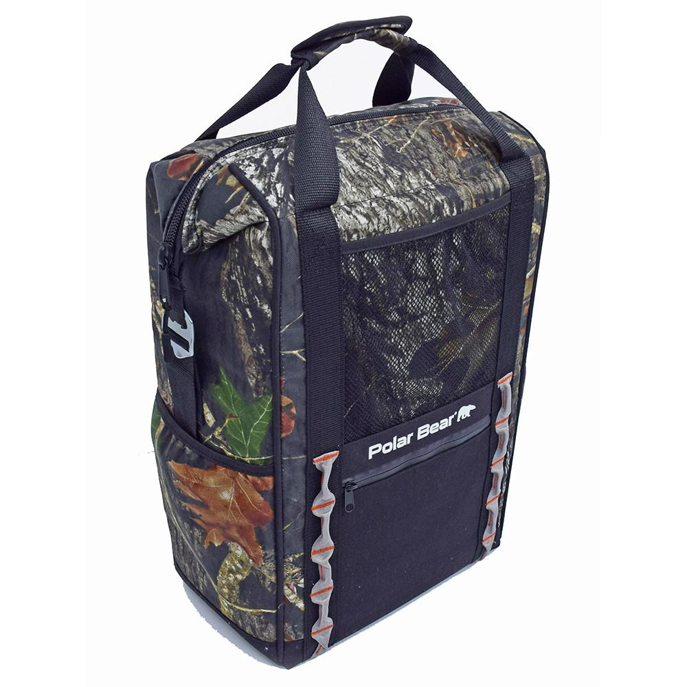 Polar Bear Tracker Backpack Cooler, Mossy Oak