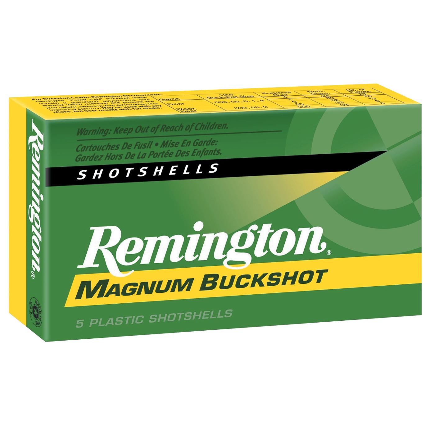 Remington Express Magnum Buckshot, 12-ga, 3″, 15 pellets