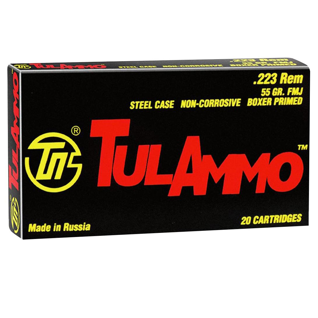 TulAmmo Rifle Ammunition, .223 Rem, 55-gr, FMJ