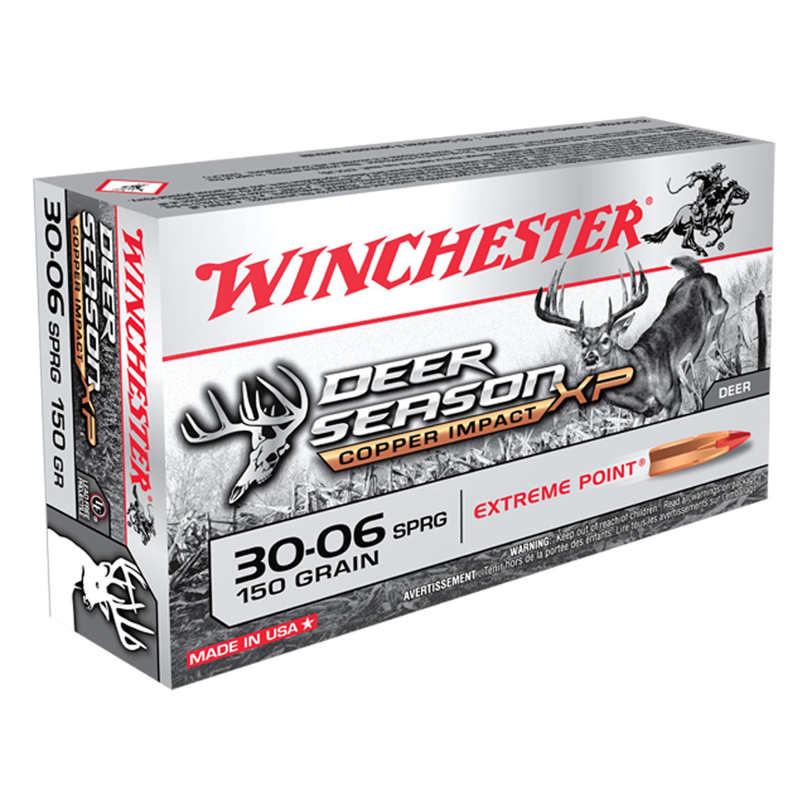 Winchester Deer Season XP Copper Impact Rifle Ammunition, .30-06 Spring, 150-gr.