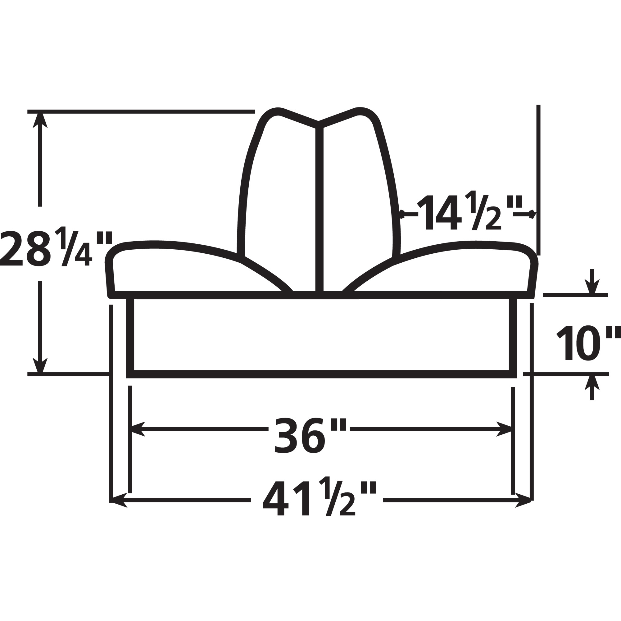 """Overton's Deluxe Boat Seat Package with 10"""" Bases"""