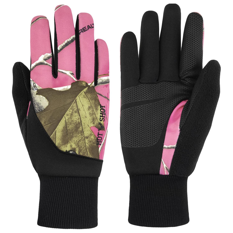 Hot Shot Women's Touch Glove, Realtree AP Pink Camo