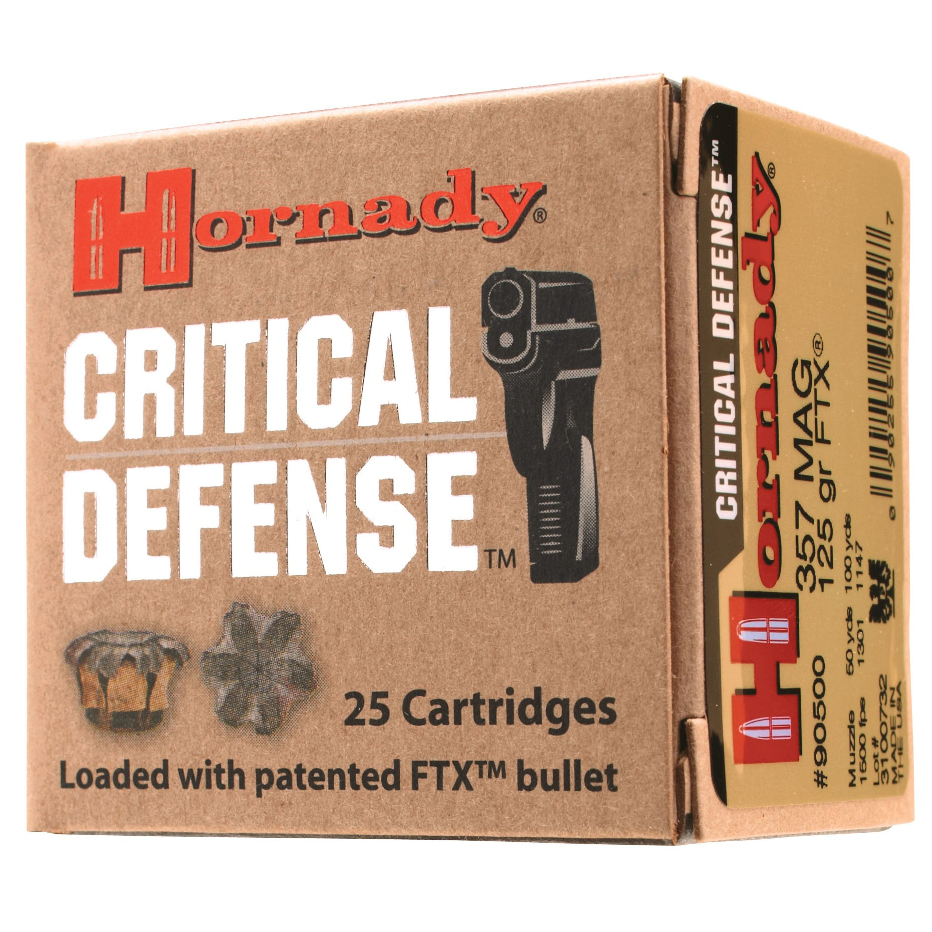 Hornady Critical Defense Handgun Ammo, .45 Long Colt, 185-gr, FTX, 20 Rounds