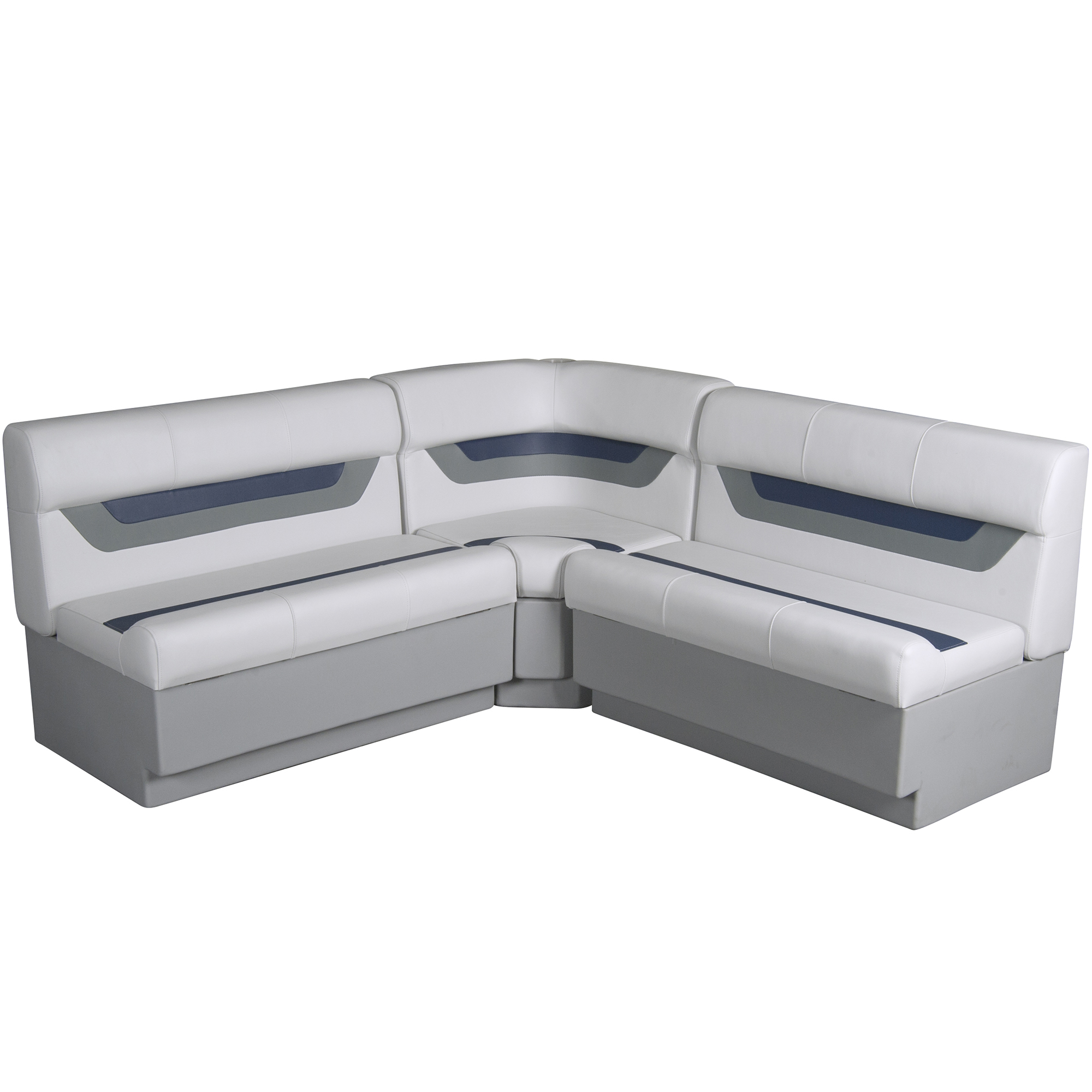 "Designer Pontoon Furniture - 61"" Rear Wraparound Package, Sky Gray/Navy"