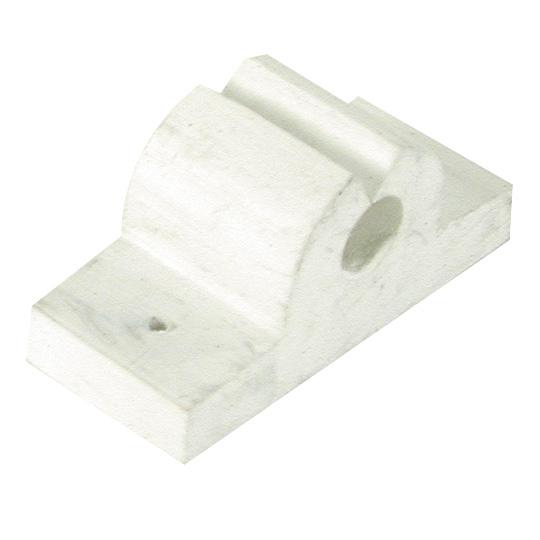 Rubber Rod/Tool Holder, white 1″