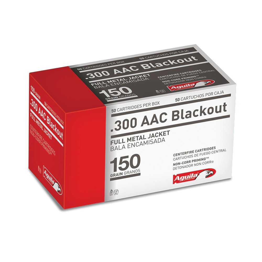 Aguila Centerfire Rifle Ammunition, .300 AAC Blackout, 150-gr., FMJ