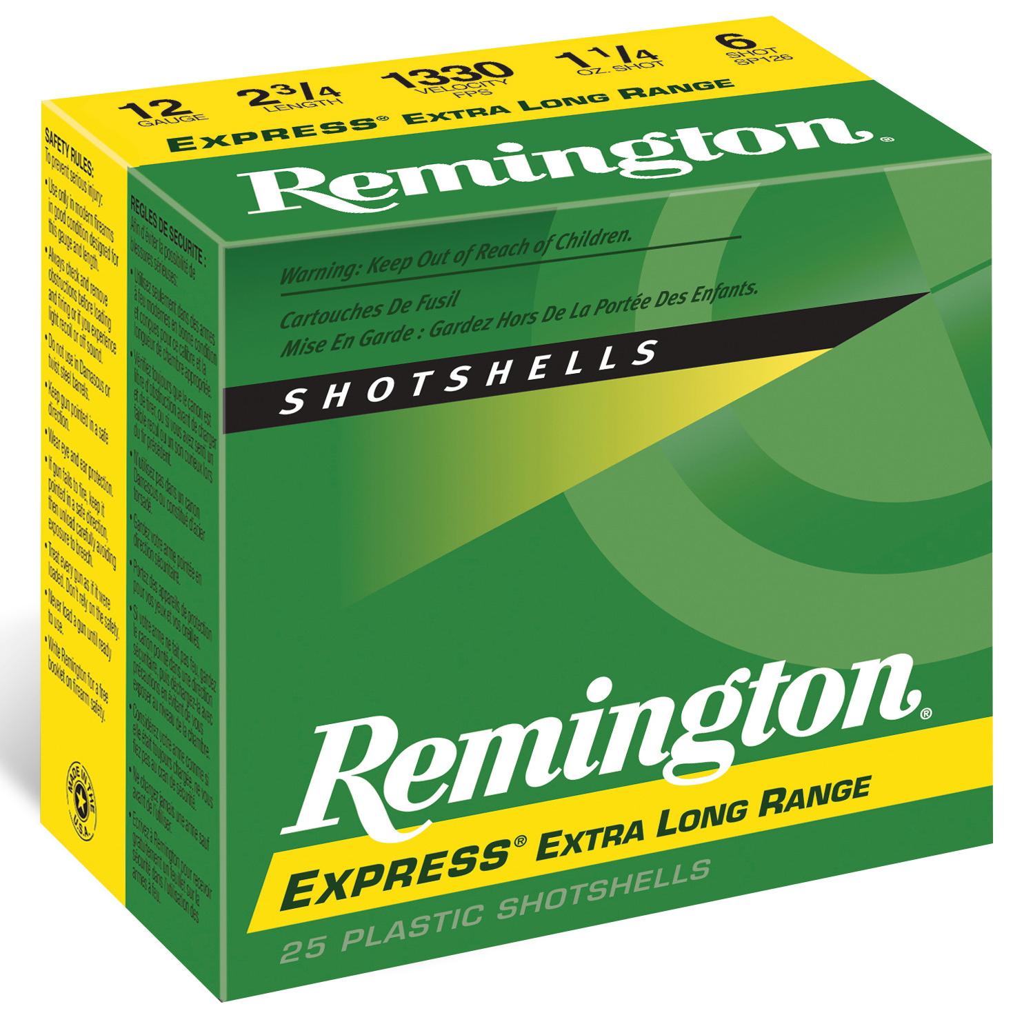 Remington Express Long Range Shotshells, 12 Ga, 2-3/4″, 1-1/4 oz, #7.5